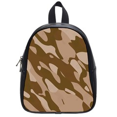 Background For Scrapbooking Or Other Beige And Brown Camouflage Patterns School Bags (small)