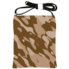 Background For Scrapbooking Or Other Beige And Brown Camouflage Patterns Shoulder Sling Bags