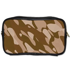 Background For Scrapbooking Or Other Beige And Brown Camouflage Patterns Toiletries Bags