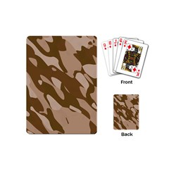 Background For Scrapbooking Or Other Beige And Brown Camouflage Patterns Playing Cards (Mini)