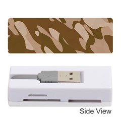 Background For Scrapbooking Or Other Beige And Brown Camouflage Patterns Memory Card Reader (Stick)