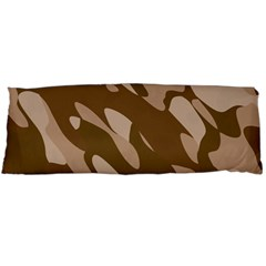 Background For Scrapbooking Or Other Beige And Brown Camouflage Patterns Body Pillow Case (Dakimakura)