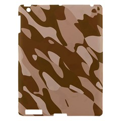 Background For Scrapbooking Or Other Beige And Brown Camouflage Patterns Apple iPad 3/4 Hardshell Case