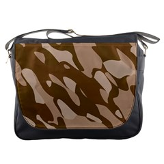 Background For Scrapbooking Or Other Beige And Brown Camouflage Patterns Messenger Bags