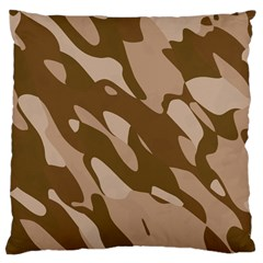 Background For Scrapbooking Or Other Beige And Brown Camouflage Patterns Large Cushion Case (Two Sides)