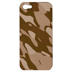 Background For Scrapbooking Or Other Beige And Brown Camouflage Patterns Apple iPhone 5 Hardshell Case