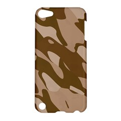 Background For Scrapbooking Or Other Beige And Brown Camouflage Patterns Apple Ipod Touch 5 Hardshell Case