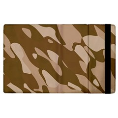 Background For Scrapbooking Or Other Beige And Brown Camouflage Patterns Apple iPad 2 Flip Case