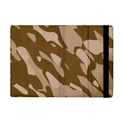 Background For Scrapbooking Or Other Beige And Brown Camouflage Patterns Apple iPad Mini Flip Case
