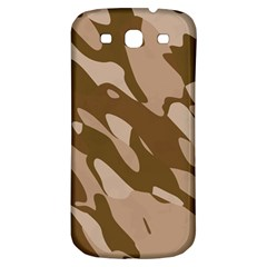 Background For Scrapbooking Or Other Beige And Brown Camouflage Patterns Samsung Galaxy S3 S III Classic Hardshell Back Case
