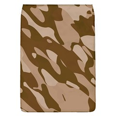 Background For Scrapbooking Or Other Beige And Brown Camouflage Patterns Flap Covers (L)