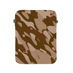 Background For Scrapbooking Or Other Beige And Brown Camouflage Patterns Apple iPad 2/3/4 Protective Soft Cases