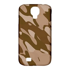 Background For Scrapbooking Or Other Beige And Brown Camouflage Patterns Samsung Galaxy S4 Classic Hardshell Case (PC+Silicone)