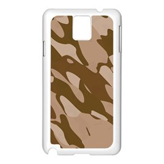 Background For Scrapbooking Or Other Beige And Brown Camouflage Patterns Samsung Galaxy Note 3 N9005 Case (White)