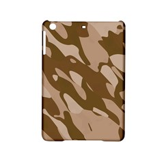 Background For Scrapbooking Or Other Beige And Brown Camouflage Patterns iPad Mini 2 Hardshell Cases