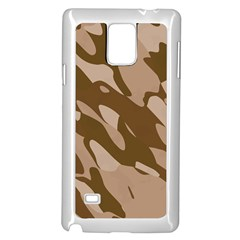 Background For Scrapbooking Or Other Beige And Brown Camouflage Patterns Samsung Galaxy Note 4 Case (White)