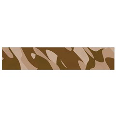 Background For Scrapbooking Or Other Beige And Brown Camouflage Patterns Flano Scarf (Small)