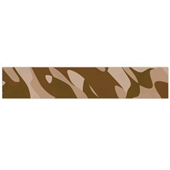 Background For Scrapbooking Or Other Beige And Brown Camouflage Patterns Flano Scarf (Large)