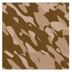 Background For Scrapbooking Or Other Beige And Brown Camouflage Patterns Large Satin Scarf (Square)