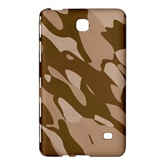 Background For Scrapbooking Or Other Beige And Brown Camouflage Patterns Samsung Galaxy Tab 4 (7 ) Hardshell Case