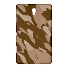 Background For Scrapbooking Or Other Beige And Brown Camouflage Patterns Samsung Galaxy Tab S (8.4 ) Hardshell Case