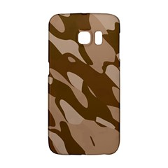 Background For Scrapbooking Or Other Beige And Brown Camouflage Patterns Galaxy S6 Edge