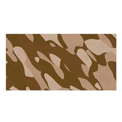 Background For Scrapbooking Or Other Beige And Brown Camouflage Patterns Satin Shawl