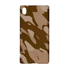 Background For Scrapbooking Or Other Beige And Brown Camouflage Patterns Sony Xperia Z3+