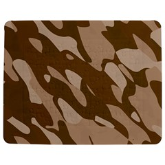 Background For Scrapbooking Or Other Beige And Brown Camouflage Patterns Jigsaw Puzzle Photo Stand (Rectangular)