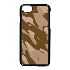 Background For Scrapbooking Or Other Beige And Brown Camouflage Patterns Apple Iphone 7 Seamless Case (black)