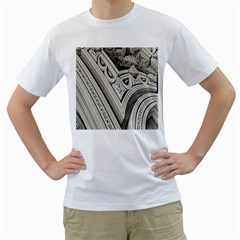 Arches Fractal Chaos Church Arch Men s T-Shirt (White) (Two Sided)