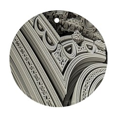 Arches Fractal Chaos Church Arch Round Ornament (Two Sides)