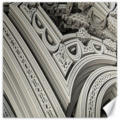 Arches Fractal Chaos Church Arch Canvas 16  x 16