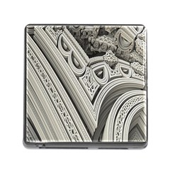 Arches Fractal Chaos Church Arch Memory Card Reader (Square)