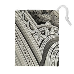 Arches Fractal Chaos Church Arch Drawstring Pouches (Extra Large)