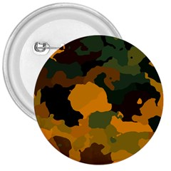 Background For Scrapbooking Or Other Camouflage Patterns Orange And Green 3  Buttons