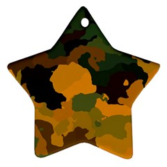 Background For Scrapbooking Or Other Camouflage Patterns Orange And Green Ornament (Star)