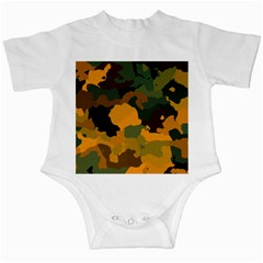 Background For Scrapbooking Or Other Camouflage Patterns Orange And Green Infant Creepers