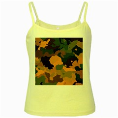 Background For Scrapbooking Or Other Camouflage Patterns Orange And Green Yellow Spaghetti Tank