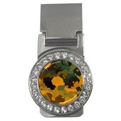 Background For Scrapbooking Or Other Camouflage Patterns Orange And Green Money Clips (CZ)