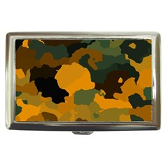 Background For Scrapbooking Or Other Camouflage Patterns Orange And Green Cigarette Money Cases