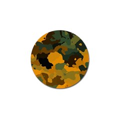 Background For Scrapbooking Or Other Camouflage Patterns Orange And Green Golf Ball Marker (4 pack)