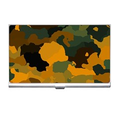 Background For Scrapbooking Or Other Camouflage Patterns Orange And Green Business Card Holders
