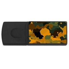 Background For Scrapbooking Or Other Camouflage Patterns Orange And Green USB Flash Drive Rectangular (1 GB)
