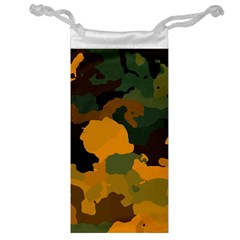 Background For Scrapbooking Or Other Camouflage Patterns Orange And Green Jewelry Bag