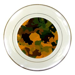 Background For Scrapbooking Or Other Camouflage Patterns Orange And Green Porcelain Plates