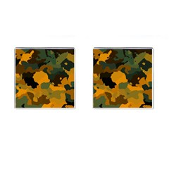 Background For Scrapbooking Or Other Camouflage Patterns Orange And Green Cufflinks (Square)