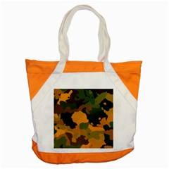 Background For Scrapbooking Or Other Camouflage Patterns Orange And Green Accent Tote Bag