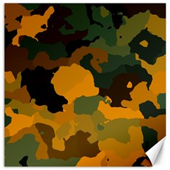 Background For Scrapbooking Or Other Camouflage Patterns Orange And Green Canvas 12  X 12