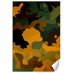 Background For Scrapbooking Or Other Camouflage Patterns Orange And Green Canvas 20  x 30